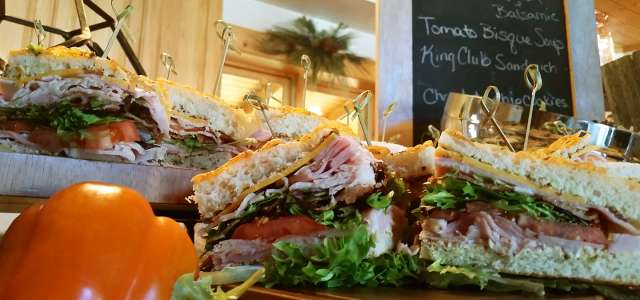 Club sandwiches for catered events